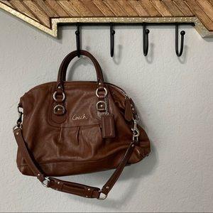 Coach Ashley satchel brown purse F15445